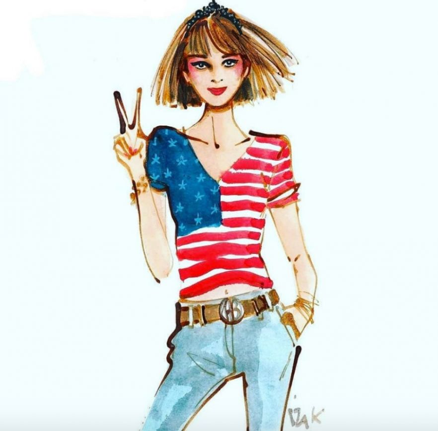illustration-izak-american-girl.jpg - IZAK | Virginie